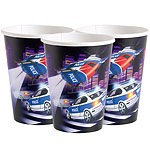 Police Cups - Paper Party Cups 255ml
