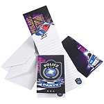 Police Invitations and Envelopes