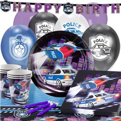 Police Party Pack - Deluxe Pack for 16
