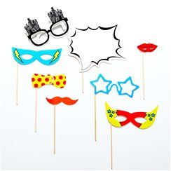 Pop Art Superhero Photo Booth Props