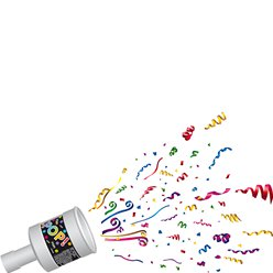 Multi Coloured Paper Party Poppers