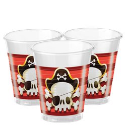 Powerful Pirates Plastic Cups - 200ml