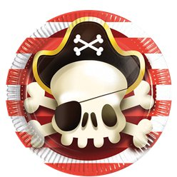 Powerful Pirates Paper Plates - 23cm