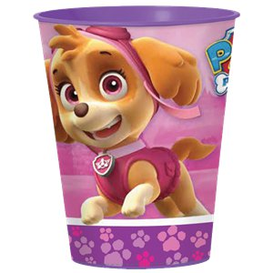 Pink Paw Patrol Plastic Favour Cup - 452ml