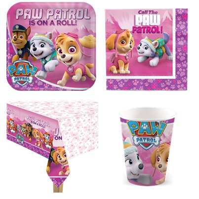 Pink Paw Patrol Party Pack - Value Pack for 8 - Save 10%