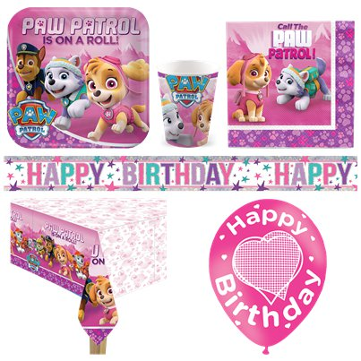 Pink Paw patrol Deluxe Party Pack