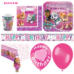 Pink Paw Patrol Party Pack - Deluxe Pack for 16 - Save 10%