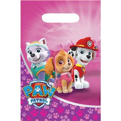 Pink Paw Patrol Party Bags - Plastic Loot Bags