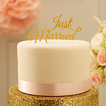 Pastel Perfection 'Just Married' Wedding Cake Topper