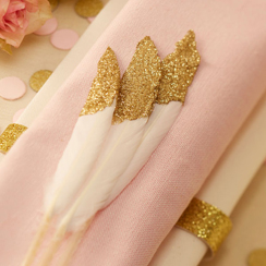 Pastel Perfection Gold Dipped Feathers