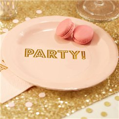 Pastel Perfection Plates - 23cm Paper Party Plates