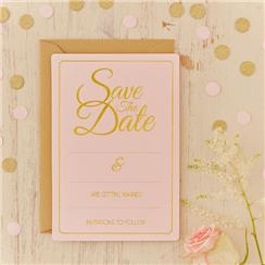 Pastel Perfection Wedding Save The Date Cards