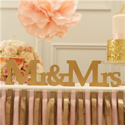 Pastel Perfection Mr & Mrs Wooden Wedding Sign