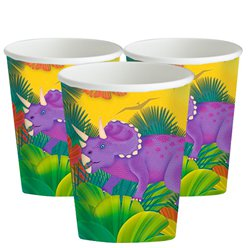 Prehistoric Party Paper Cups - 266ml
