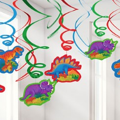 Prehistoric Party Hanging Swirls - 61cm
