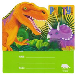 Prehistoric Party Postcard Invites