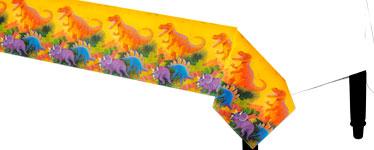 Prehistoric Party Tablecover - 1.37m x 2.43m Plastic