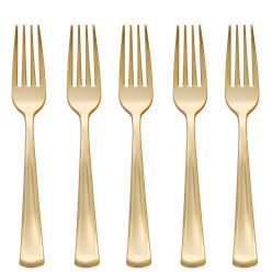 Premium Gold Reusable Forks - 32pk