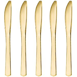 Premium Gold Reuseable Plastic Knives