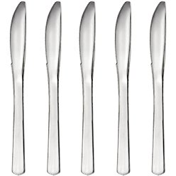 Premium Silver Reusable Knives - 32pk