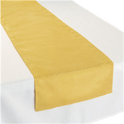 Premium Metallic Gold Fabric Table Runner - 30cm x 1.8m