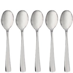 Premium Silver Small Reuseable Plastic Spoons