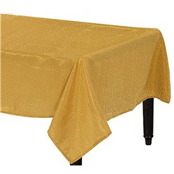 Premium Metallic Gold Fabric Table Cover - 1.5m x 2.6m