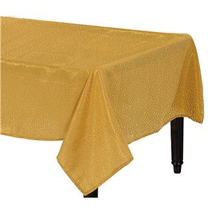 Premium Metallic Gold Fabric Table Cover - 1.52m x 2.13m