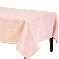 Premium Metallic Rose Gold Fabric Table Cover - 1.5m x 2.6m