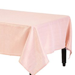 Premium Metallic Rose Gold Fabric Table Cover - 1.52m x 2.13m
