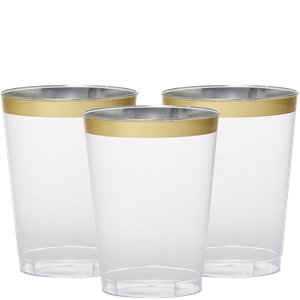 Premium Gold Trim Tumbler - 295ml