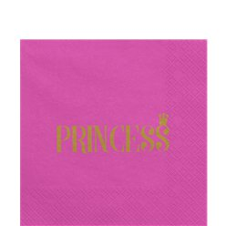 Princess Party Hot Pink Paper Napkins - 33cm
