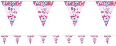 Prismatic Princess Flag Plastic Bunting - 3.7m