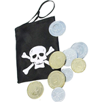 Pirate Coins and Pouch Fancy Dress