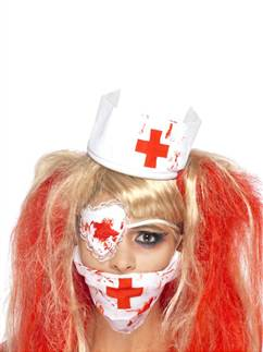 Bloody Nurse Kit - Headpiece, Face Mask & Eyepatch