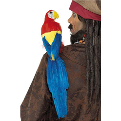Feathered Parrot with Elastic Holder