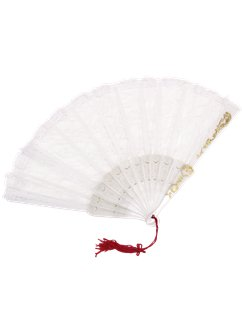 Spanish White Lace Fan
