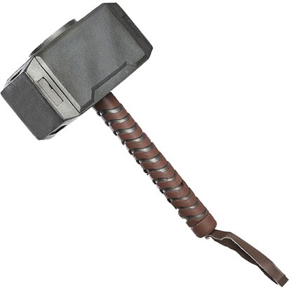 Thor Moulded Hammer - Superhero Fancy Dress Accessories front
