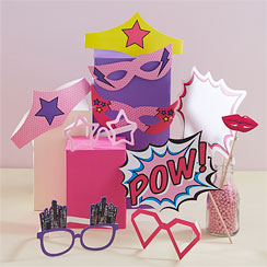 Pink Pop Art Party Photo Booth Props