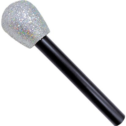Glitter Microphone - Fancy Dress Accessories front