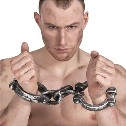 Wrist Shackles - 37cm - Fancy Dress Accessories front