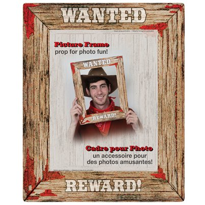 Rodeo Western Wanted Poster Photo Booth Frame - 17""
