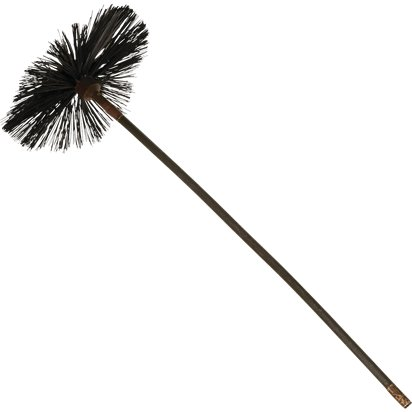 Chimney Sweep Broom - Victorian Fancy Dress Accessories - Mary Poppins Chimney Sweep Brush front