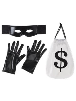 Thief Kit - Mask, Gloves & Money Bag
