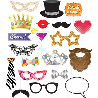 Party Photo Prop Kit