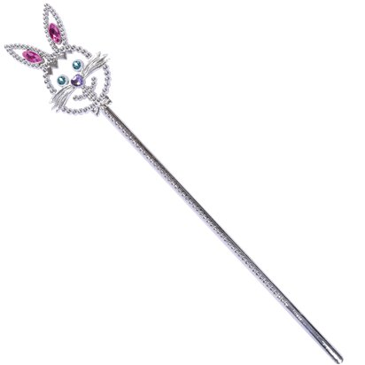 Silver Bunny Wand - Alice in Wonderland - Easter Bunny front