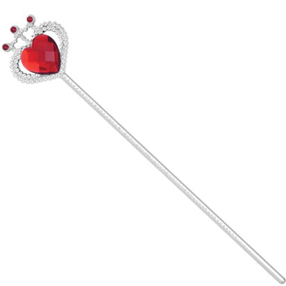 Heart Wand with Red Gem - Princess Wand - Fairytale Wand - Queen of Hearts front