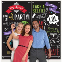 Photo Booth Words Scene Setter 2pk