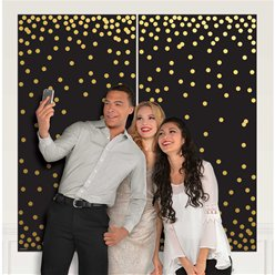 Photo Booth Dots Scene Setter 2pk