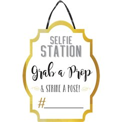 Photo Booth Selfie Station Customisable Sign